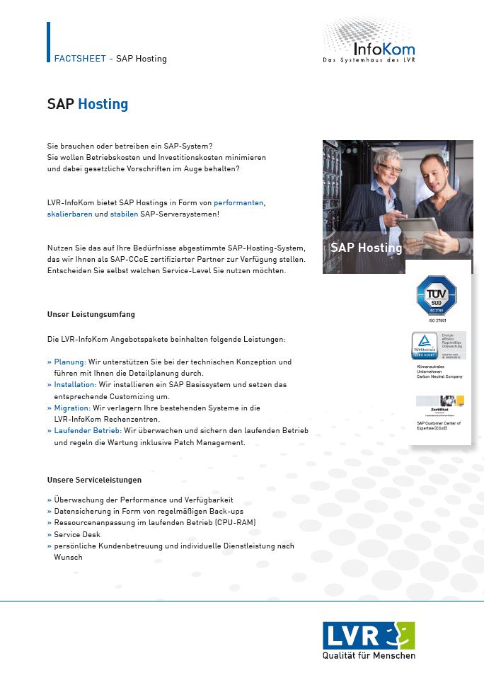 Publikation SAP Hosting
